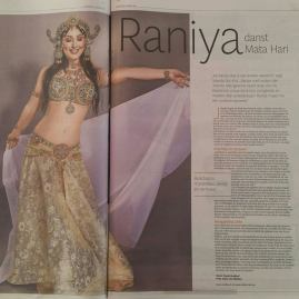 Haarlems Dagblad april 2017 Buikdanseres Raniya